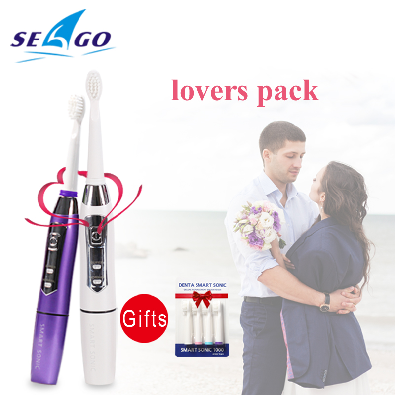 Oral Hygiene New Electric Ultrasonic Toothbrush Battery Operated Teeth Brush Waterproof Sonic Toothbrush 2 Brushing Mode SG619 evelots battery operated self stirring mug black set of 2