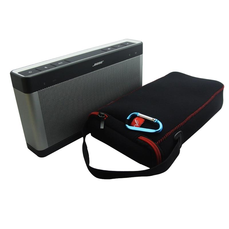 Travel Carry Portable Protective Neoprene Storage Bag Protect Case Cover For Bose SoundLink3 SoundLink III 3