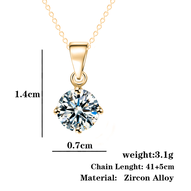 Geometric Zircon Choker Necklaces For Women Girls Bijoux Gold Sliver Color Rhinestone Necklace Fashion Jewelry Christmas Gift