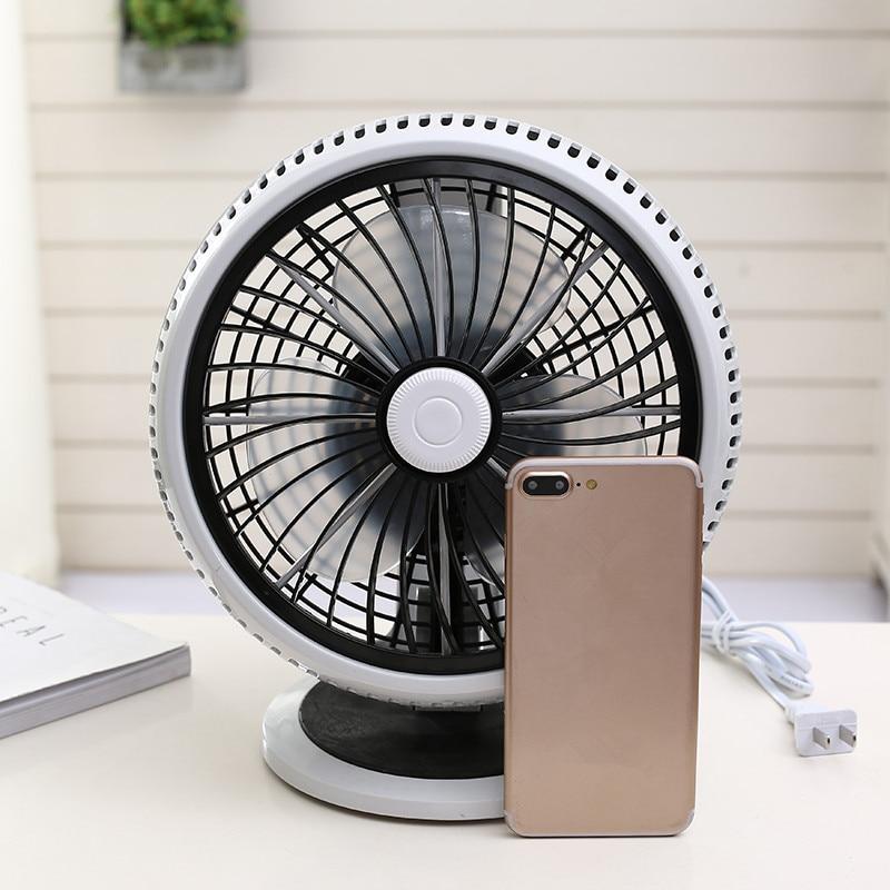 220V Desktop Household Electric Fan Portable Good Quality Quiet Desk Stand Mini Portable Strong Wind Fan With 3m Line EU/AU/UK