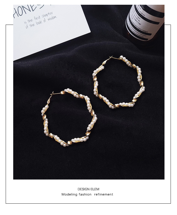 S925 Silver Needle Female Temperament Fashion Classic Personality Simple Ring Pearl Net Red Ear Drop for the women Earrings in Stud Earrings from Jewelry Accessories