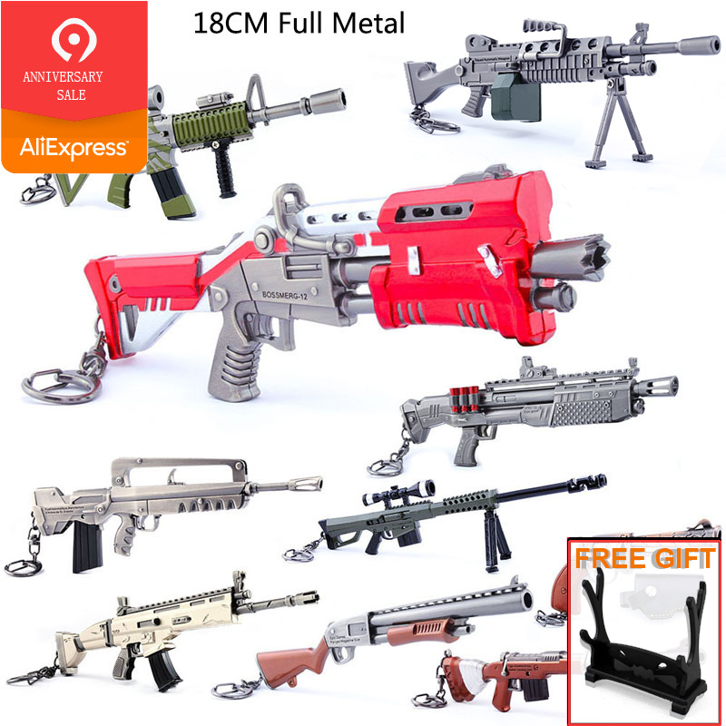Hot Sale Game Accessories Battle Royale Toys For Kids Metal Gun  Model Keychain