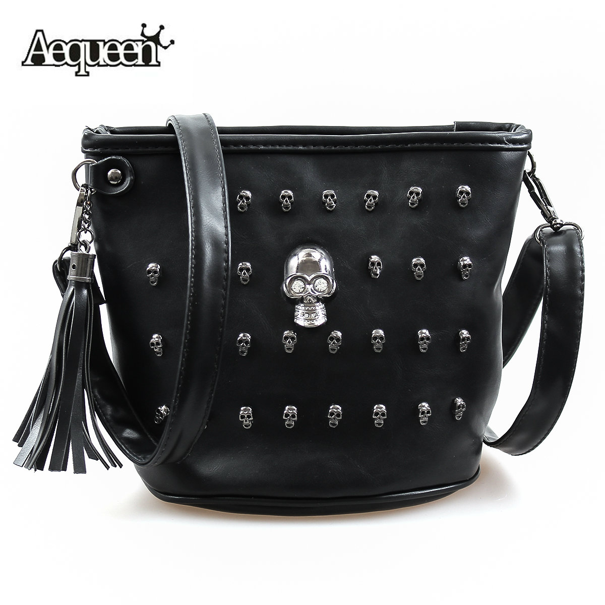 1e10d9fc3662 Detail Feedback Questions about AEQUEEN Fashion Shoulder Bags Skull ...