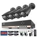 Annke sistema de cctv 8ch 720 p hd cctv dvr & 4 X 1.0MP 720 P 1200TVL IP66 Ao Ar Livre Câmeras de Segurança de Vigilância CCTV kit