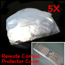 5pcs set Remote Control Covers Heat Shrink Film TV Air-Conditioner Remote Control Protector Cover Waterproof Dust Case Covers cheap VKTECH Modern as pic show tv remote control dust cover