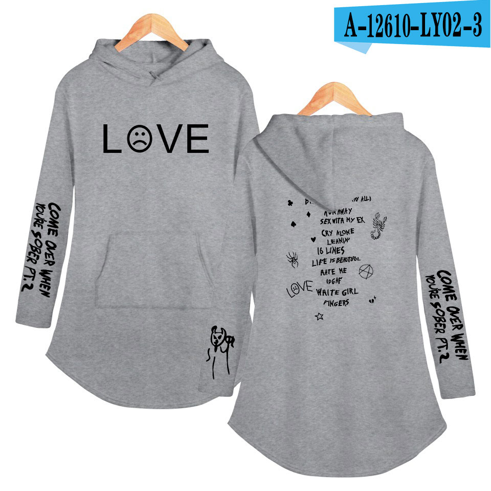 lil peep love Hoodies Sweatshirt Classic K Pop Personality Casual Sport shirt Pocket Summer Autumn Long sleeve Streetwear 10