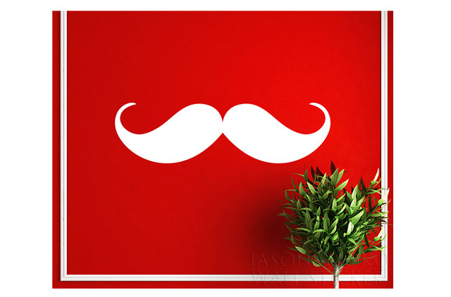 Large 60CM Mustache PATTERN Die Cut Wall Sticker For Home Decor Free Ship