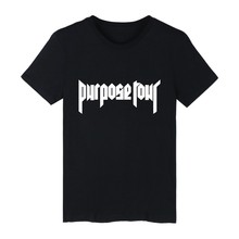 justin bieber t shirt mens short sleeve fashion t-shirt purpose tour shirt hip hop street wear plus size tops and tee 4XL