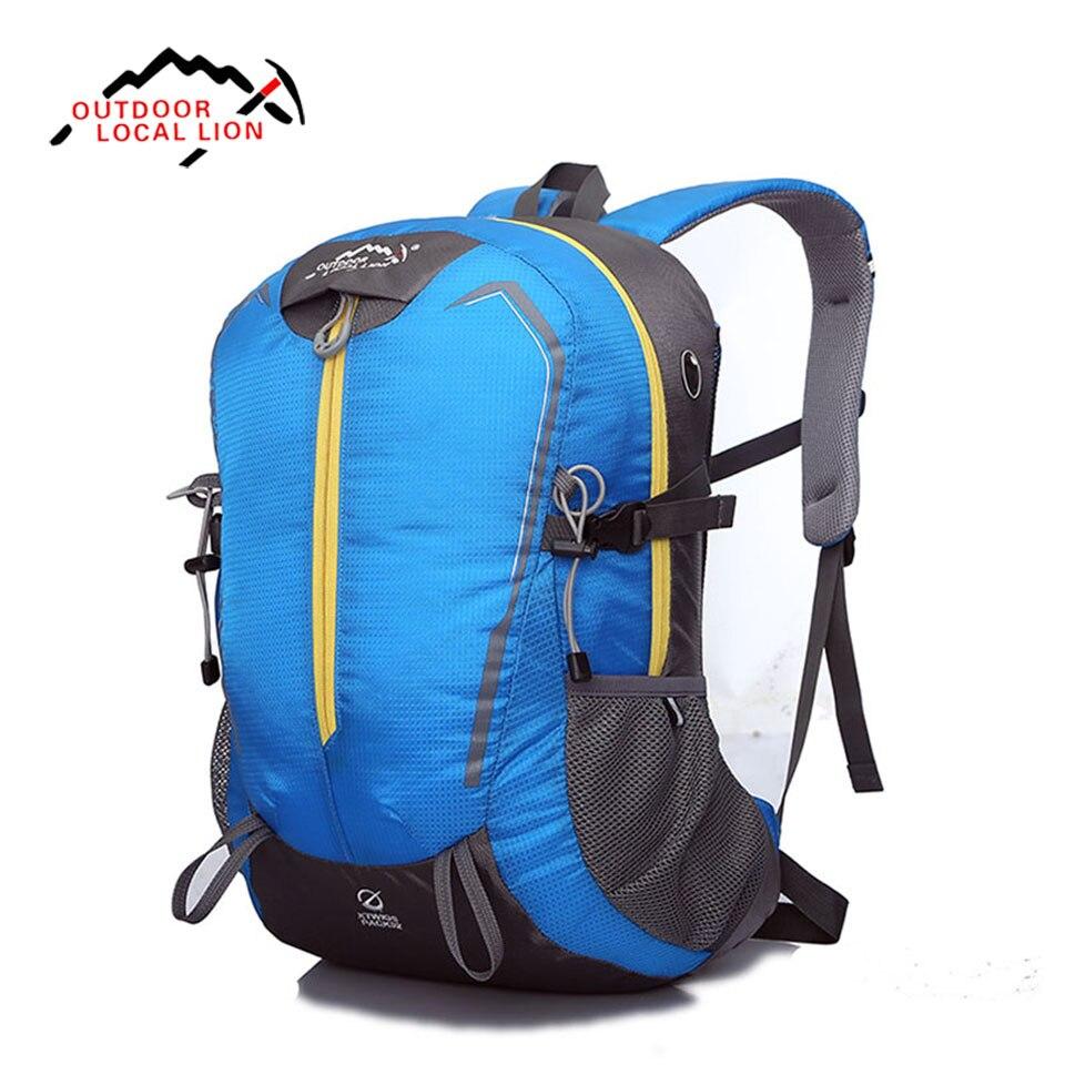 LOCAL LION Outdoor Sport Backpack Waterproof Soft Nylon Durable Travel Rucksack 35L Backpacks High Capacity Shoulder Bag