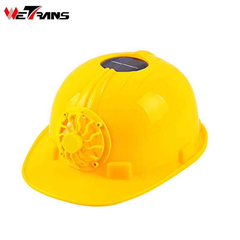 цена на Wetrans Work Helmet With Solar Panel Fan Construction Safety Helmet Firm Heat Dissipation Consumer Hard Hat Cap Head Protect