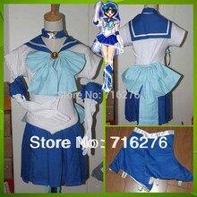 Nuevo anime pretty soldado partido sailor moon sailor mercury mizuno ami cosplay mujer fiesta de halloween cualquie tamaño freeshipping