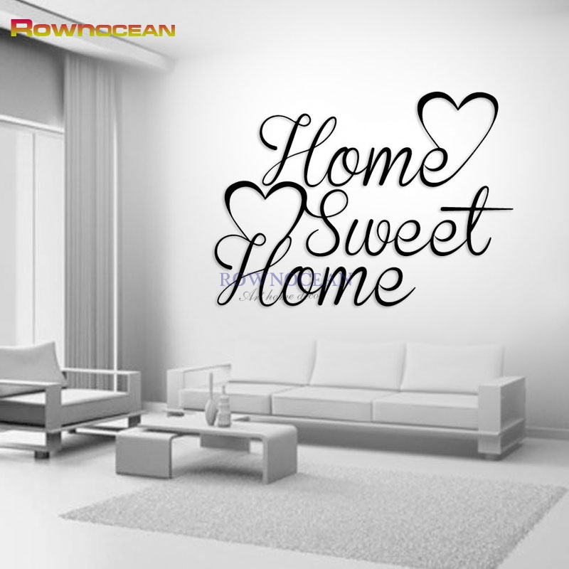 Home Sweet Home Decor Wall Stickers DIY Removable Art Vinyl Family Quote Wall Sticker Decorating DIY Family Art Customize W701