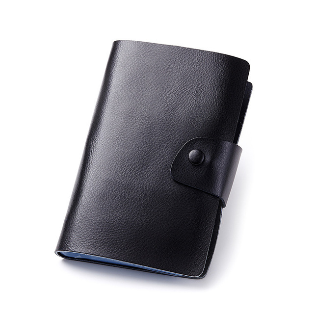 2017 New Genuine Leather Women Men ID Card Holder Card Wallet Purse Credit Card Business Card Holder Protector Organizer DC167