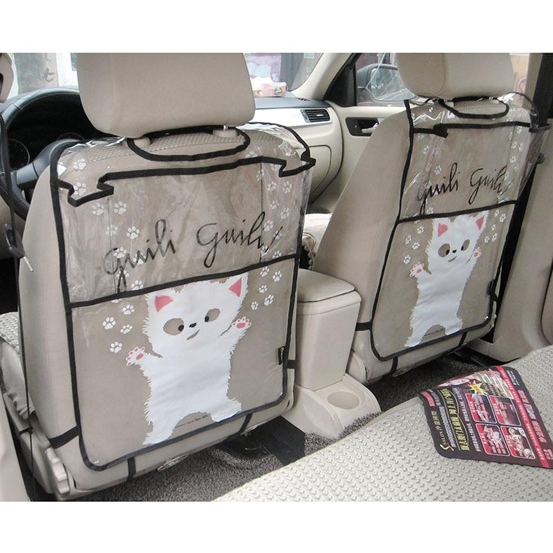 Firstplus окружающей среды автомобиля задний протектор сиденье ногами мат Чехол Чехол для iPad 2/3/4/воздуха/мини и пить catoon компания стайлинг