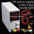 Mini Digital DC fuente de alimentación Ajustable, 0 ~ 30 V 0 ~ 10A, 110 V O 220 V, fuente de alimentación de conmutación, la certificación, para EE. UU./EU/Au del
