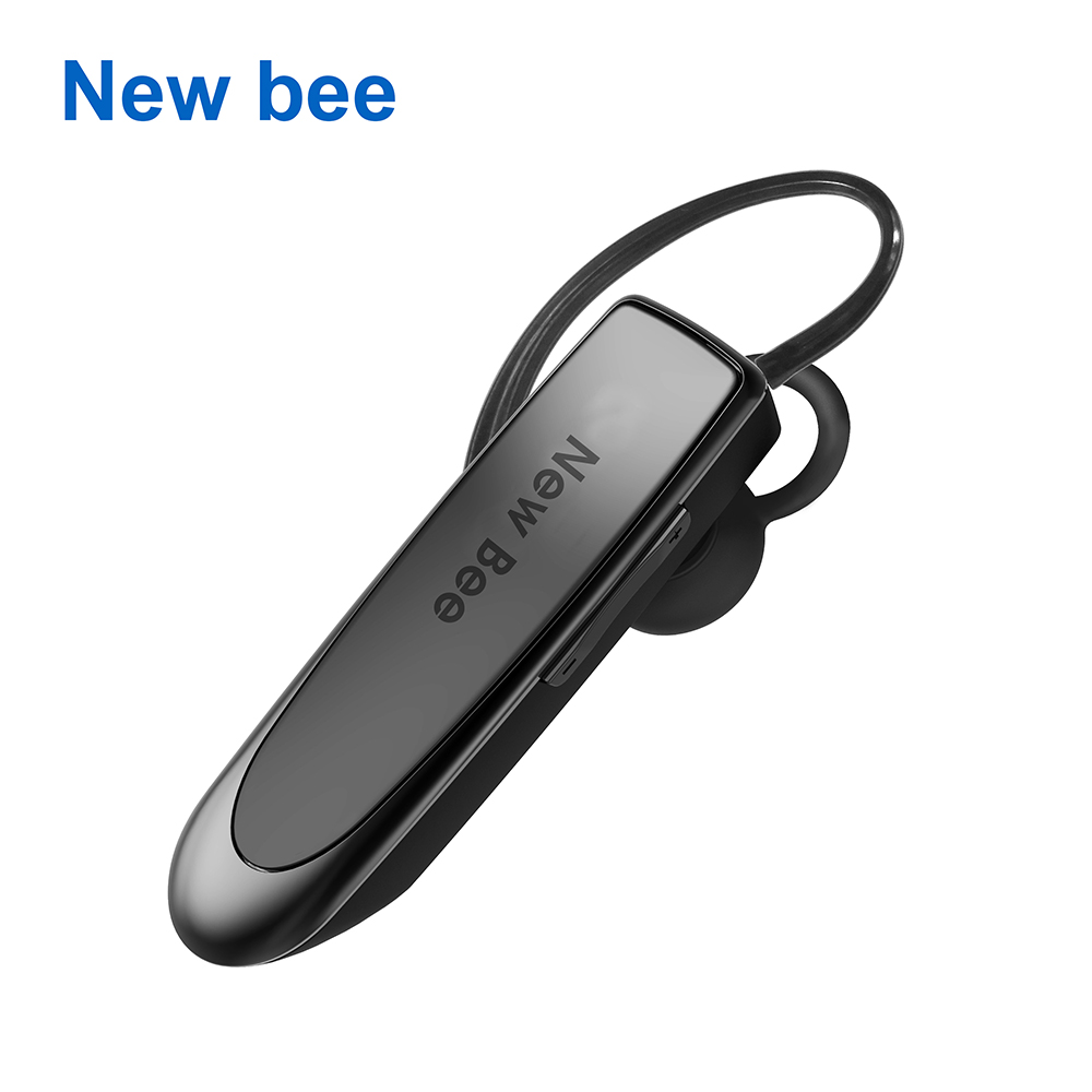 New Bee Hands-free Wireless Bluetooth Earphone Bluetooth Headset Headphones Earbud with Microphone Earphone Case for Phone PC airersi k6 business bluetooth headset smart car call wireless earphone with microphone hands free and headphones storage box