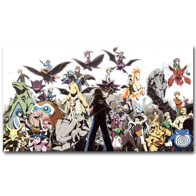 Pokemon Xy Art Silk Plakat Druck 13x24 24x43 Zoll Tasche Monster