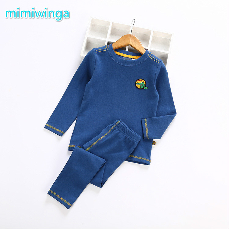 2017 autumn and winter new boy thermal underwear suit cotton home service children's clothing children autumn and winter underwear clothing set 100