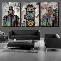 3 pezzo Spedizione gratuita vendita calda Wall Hanging Combinazione Pittura Immagine Arte Contemporanea Vernice Stampa Su Tela Astratta farfalla