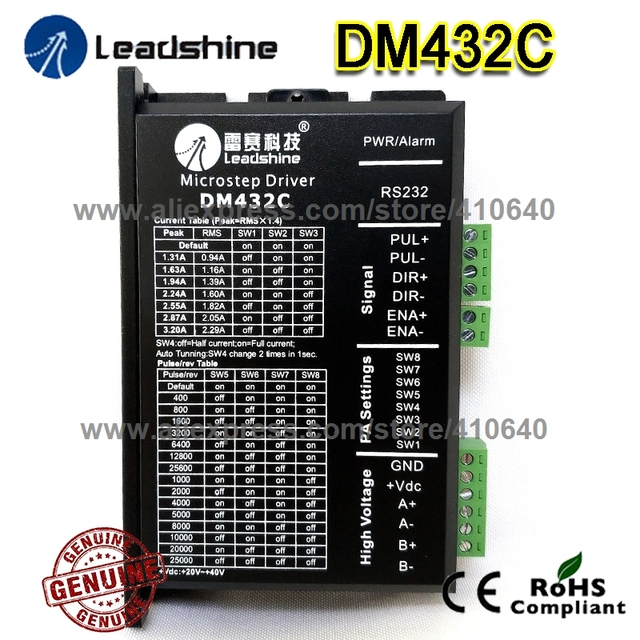 Genuine Leadshine Stepper Drive DM432C 2 Phase Digital Stepper Drive Max 40 VDC  and 3.2A FREE SHIPPING