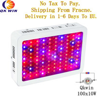 Sctock In Italy QkwiLED 1000W 100x10w Double Chips 10W LED Grow Light Full Spectrum LED Grow
