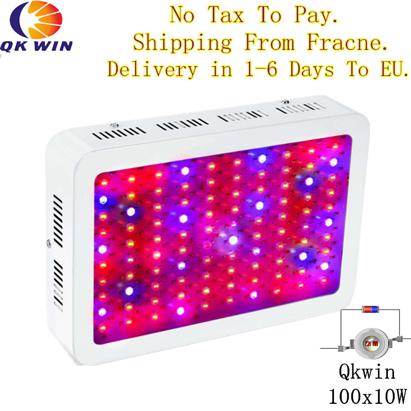 France/Germany Warehouse drop shipping Qkwin 1000W LED Grow Light with double chip 10W Full Spectrum LED Grow Light 3pcs lot double chip qkwin 600w led grow light 60x10w double chip full spectrum for hydroponic planting shipping
