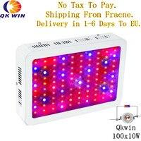 Sctock In Italy QkwiLED 1000W 100x10w Double Chips 10W LED Grow Light Full Spectrum LED Grow