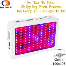 France/Germany Warehouse drop shipping Qkwin 1000W LED Grow Light with double chip 10W Full Spectrum LED Grow Light(China)