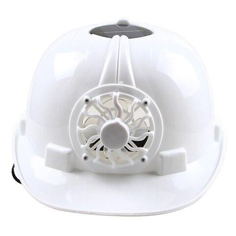 o capacete de seguranca movido a energia solar ventila o tampao do chapeu com ventilador