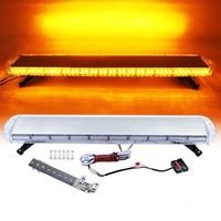CYAN SOIL BAY 47 88W LED Strobe Light Bar Amber/Yellow Emergency Beacon Hazard Warning Flash Flashing Lamp