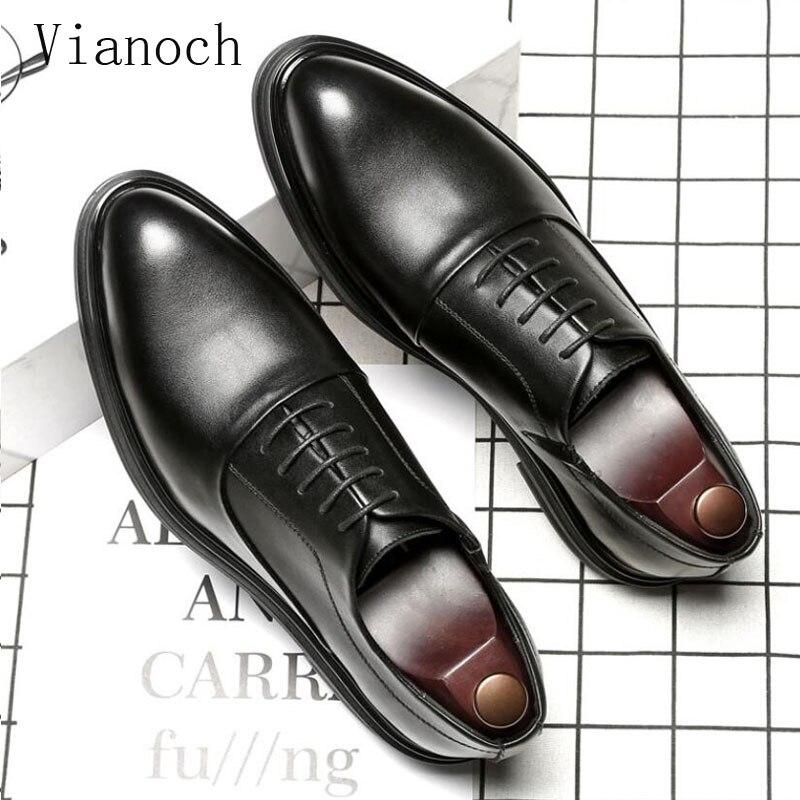 Fashion New Dress Shoe Men Lace Up Oxfords Shoes Bussiness Wedding Man Party Shoe men0050