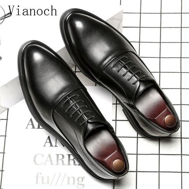108224905 Fashion New Dress Shoe Men Lace Up Oxfords Shoes Bussiness Wedding Man  Party Shoe Men0050