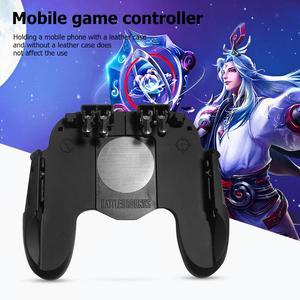 Image 2 - H9 נייד טלפון Gamepad עבור Pubg ג ויסטיק יד גריפ משלוח אש כפתור עבור Pubg בקר L1R1 הדק עבור Pubg משחק אבזרים
