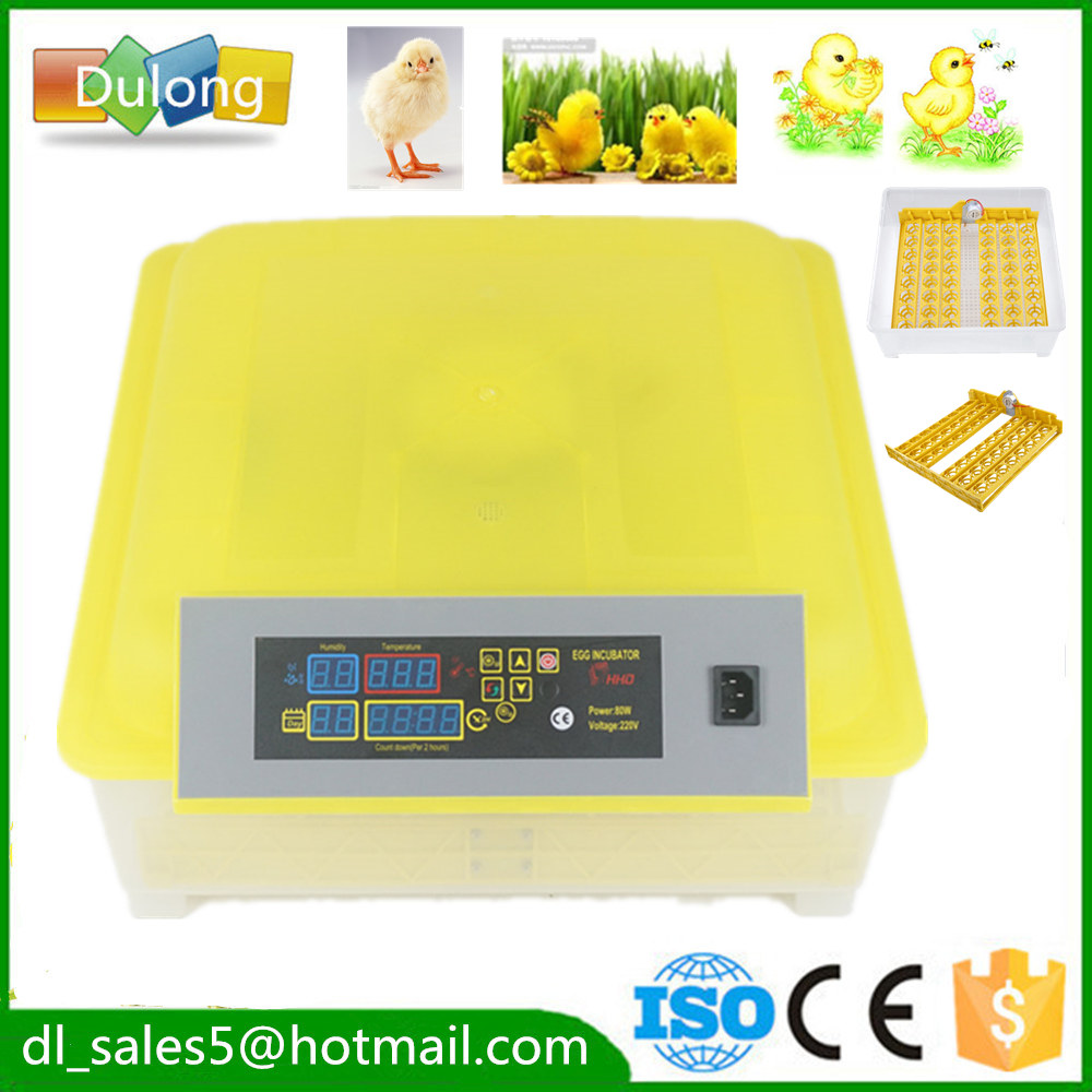 small Chicken egg incubator hatching machine automatic turning chicken duck quail bird eggs 48 digital egg incubator hatcher temperature control automatic turning chicken duck bird hatching machine