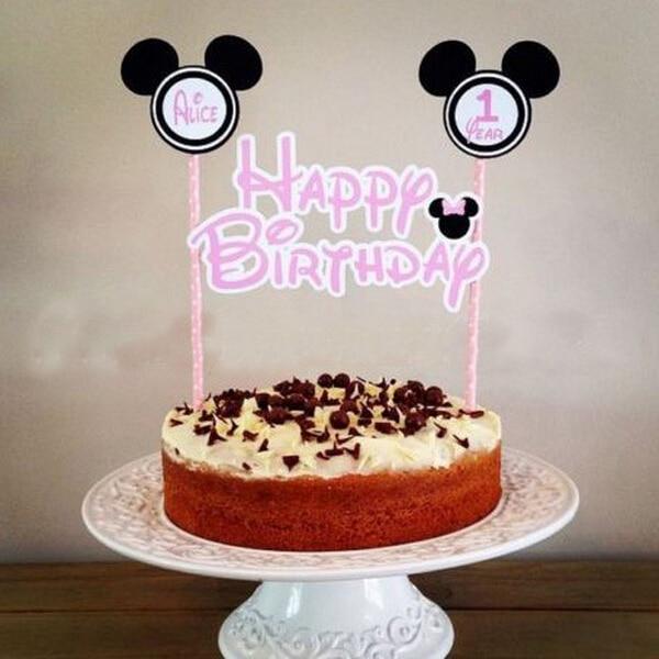 Aliexpress Buy 1pcs Mickey Mouse Theme Happy Birthday Flag