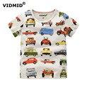 VIDMID 1-10Y niños T camisa camiseta niños ropa de bebé niño camisa de verano Camisetas de diseño de dibujos animados de algodón de marca