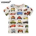 Vidmid 1-10y camiseta de los niños camiseta de los muchachos ropa de bebé niño camisa de verano tees diseñador algodón dinosaurio de la historieta marca