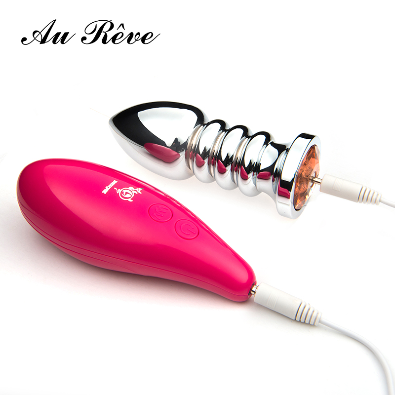 Au Reve 10 Speed Vibrating Butt Plug Erotic Remote Control Metal Anal Plug Vibrator Sex Toys Adult Products For Men Women Couple fox tail anal plug in adult games large metal beads butt plug fetish erotic sex products flirting toys for women and men