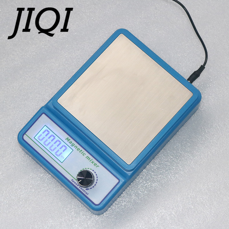 JIQI Laboratory LCD Digital Display Magnetic Stirrer Chemistry Liquid Mixer stir bar No Heating Plate Hotplate 1000ml 100V-240V
