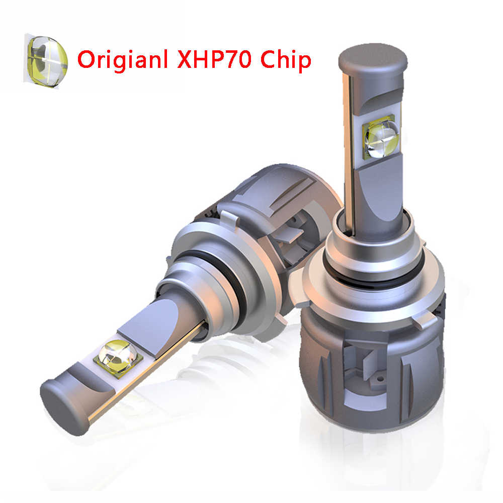 XHP70 H4 H7 Car LED Headlight Bulb X70 H11 9005 9006 HB4 H8 D1S D2S H1 D4S Upgrade XHP70 Chip 6000K 15600LM Headlamp Fog Light