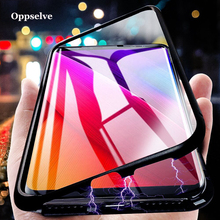 Luxury Magnetic Adsorption Phone Case For iPhone Xs Max XR X 8 7 6 6s Plus Samsung Note 9 8 S9 S8 Metal Back Glass Cover Capinha phone camera lens 9 in 1 phone lens kit for iphone x xs max 8 7 plus samsung s10 s10e s9 s8