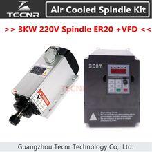 4 pcs En Céramique Roulements 3kw 220 v air frais broche ER20 et 3KW onduleur pilote à fréquence variable