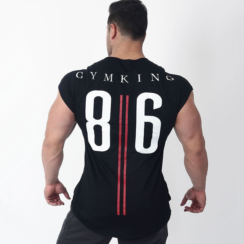 Mens Cotton   T  -  shirt   2018 New Gyms Fitness Bodybuilding Workout   t     shirt   Man Summer Casual Fashion Print Tees Tops Brand Clothing