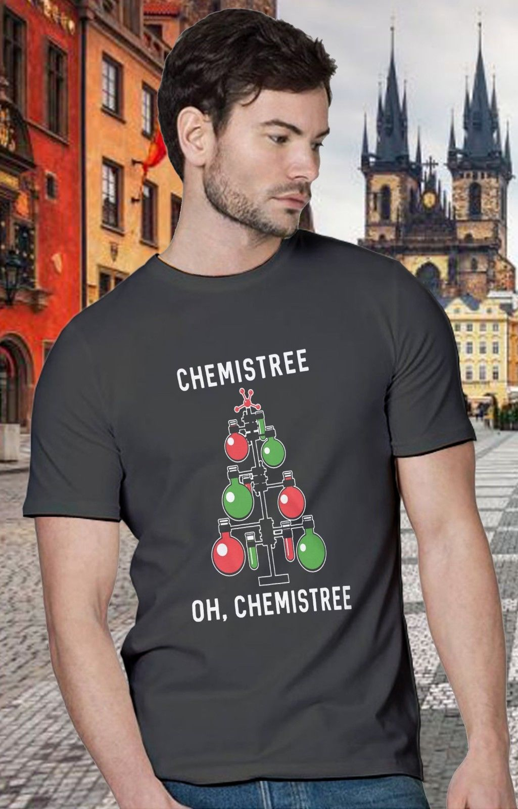 Chemistree Tshirt Funny Chemistry Science Christmas Tee Unisex Logo Gift New