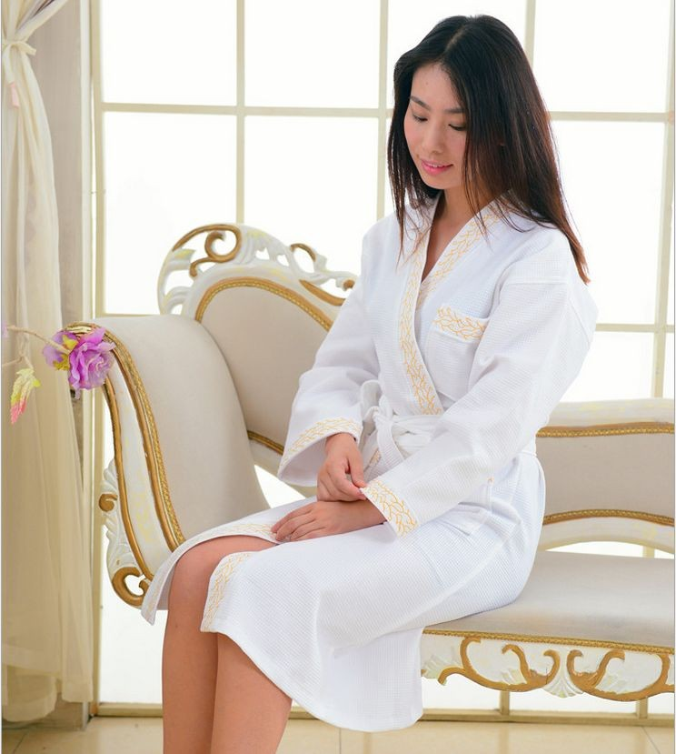 Women\'s Mid-Calf Cotton Sleep Lounge Robes RBS-D RB29 2