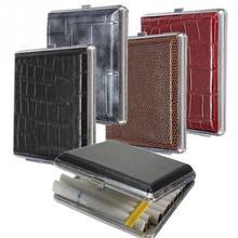 1 Pc Leather 20 PCS Cigar Cigarette Tobacco Pocket Box Storage Case Holder Wallet random color