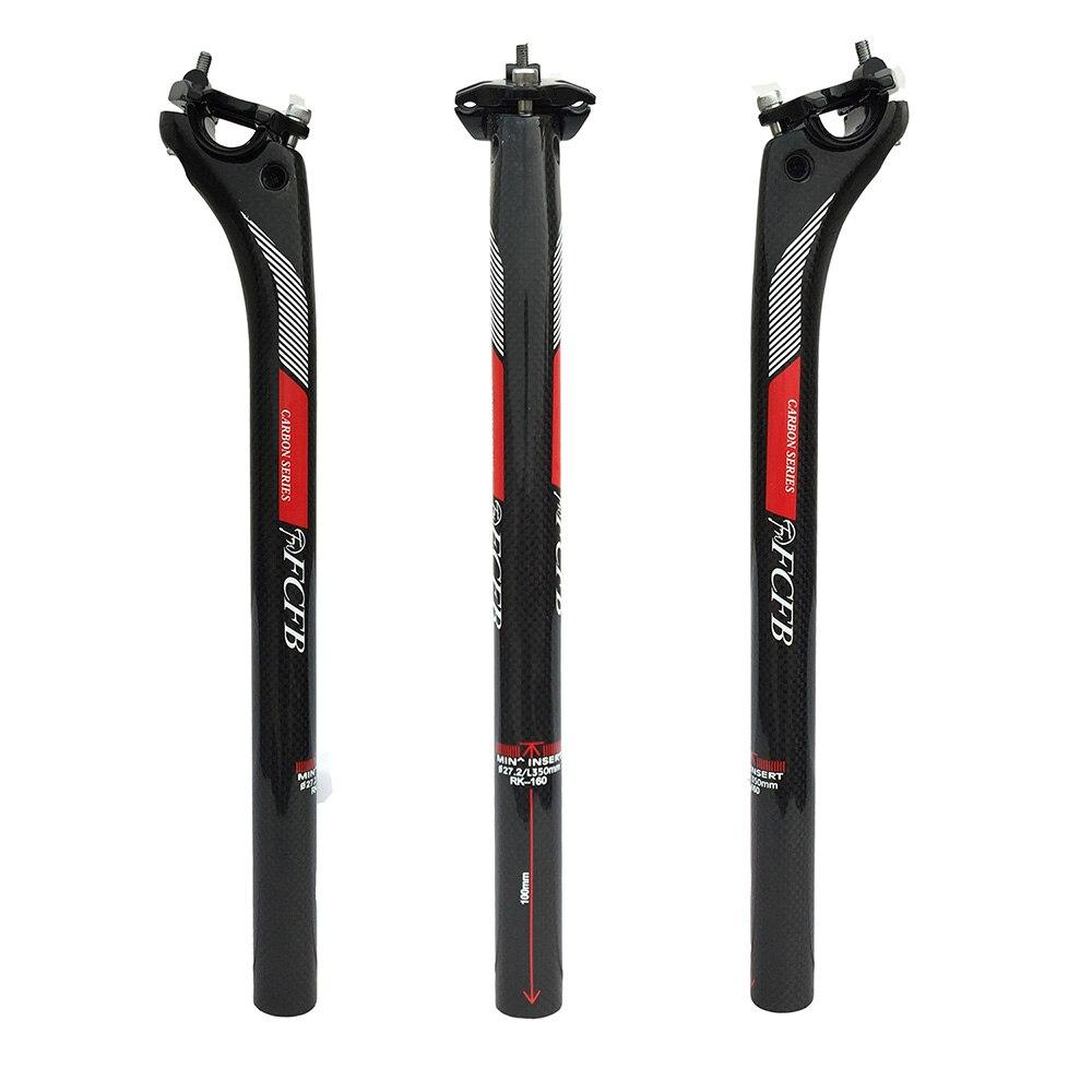 Цена за Продажа новый FCFB FW НАЗАД 20 ММ углерода подседельный 27.2/30.8/31.6*350/400 мм углерода части велосипеда mtb подседельный дороги углерода подседельный