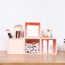 Coloffice креативный Одноцветный ящик для хранения канцелярских принадлежностей, пластиковый ящик для хранения мелких предметов, офисные принадлежности, 1 шт