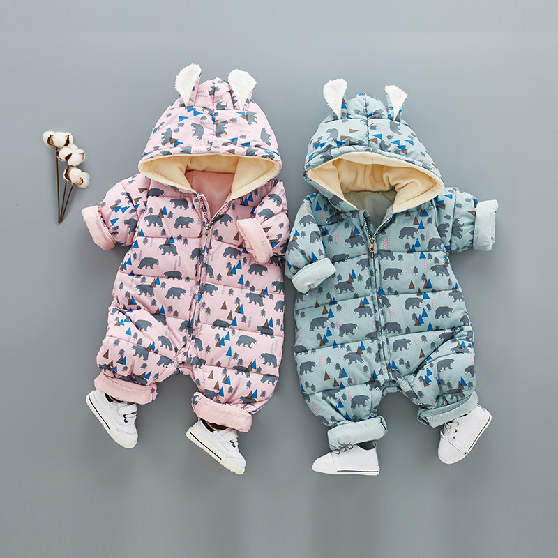 Thickening Warm Cotton-padded Clothes Baby Romper Suit Infant Baby Boy Girl Autumn Winter Long Sleeve Jumpsuits warm thicken baby rompers long sleeve organic cotton autumn