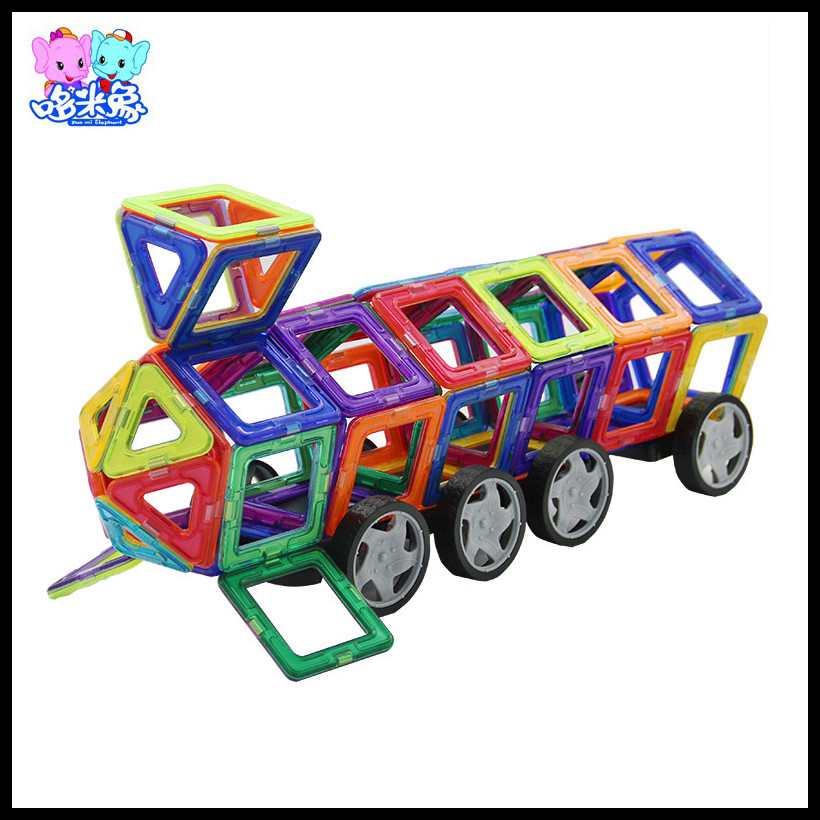 ФОТО 188pcs Toys For Children Classic Gift Boys Girls Creative Magnetic Pieces Building Block DIY Models Educational Brinquedos